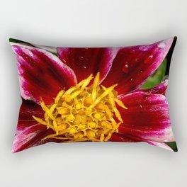 Wet pink flower 1 Rectangular Pillow