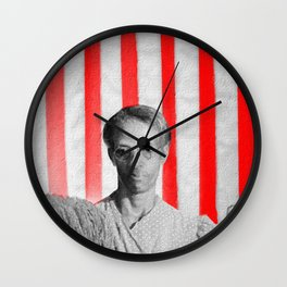 Red White Black And Blue Super Tall Wall Clock