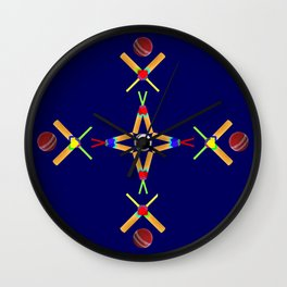Sport Of Cricket Design version 3 Wall Clock