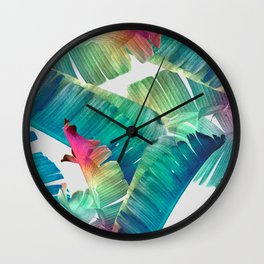 Banana Leaf Fantasy Wall Clock