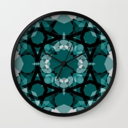 Green Gems Wall Clock