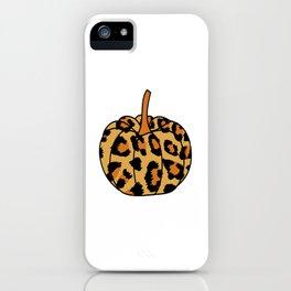 Leopard Pumpkin Shirt iPhone Case
