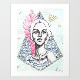 Island Rose Art Print