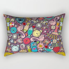 kitsch scatter plum Rectangular Pillow