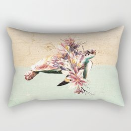 Turtle and bouquet Rectangular Pillow