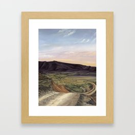 Black Gap Road, Big Bend Texas Framed Art Print