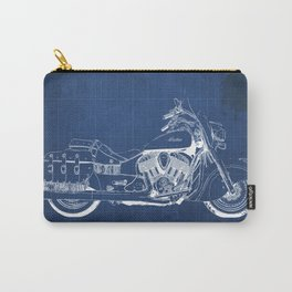 New motorcycle blueprint, 2016 Indian Chief Vintage,gift fro him,blueprint,bike art print Carry-All Pouch