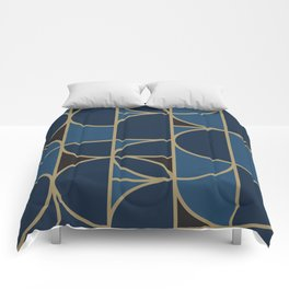 Morning Dance In Blue Big Scale Comforters