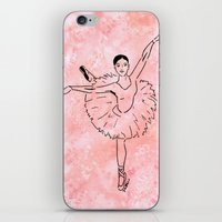 ballet iPhone & iPod Skins featuring Ballet  (Ballet dancer in arabesque wearing a tutu) by Janin Wise