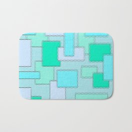 Turquoise Patches Bath Mat
