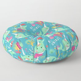 Narwhal Be Unique Pattern Floor Pillow
