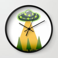 i want to believe Wall Clocks featuring I Want To Believe by molmcintosh