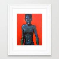 oil Framed Art Prints featuring Oil by Cary Polkovitz