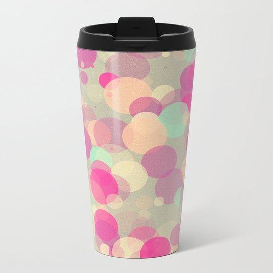 Colorful Bubbles 2 Metal Travel Mug