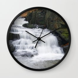Lumsdale Waterfall Wall Clock