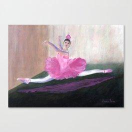 Pink Ballerina Canvas Print