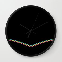 Pastel Stripes Wall Clock