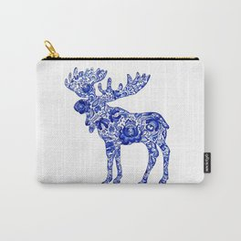 Gzhel Moose Carry-All Pouch