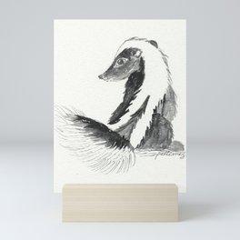 Skunk Mini Art Print