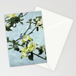 Chickadee in Apple Blossoms Stationery Cards
