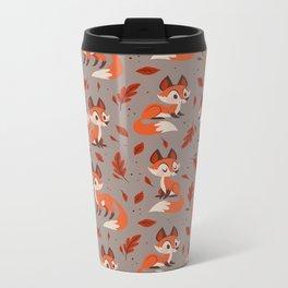 Cute Foxes Metal Travel Mug