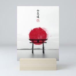 JAPANESE HINOMARU FLAG SIGNS Mini Art Print