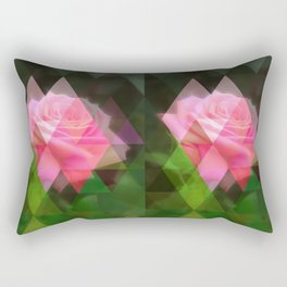 Pink Roses in Anzures 3 Art Triangles 1 Rectangular Pillow