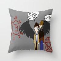 supernatural Throw Pillows featuring Supernatural  by Research&Development