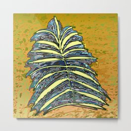 Palm Leaf Fosil 2 / Nature 13-12-16 Metal Print