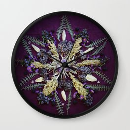 Nature Mandala: September Wall Clock