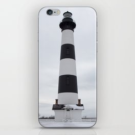 Outer Banks Lighthouse - Snowy Bodie Island Light iPhone Skin