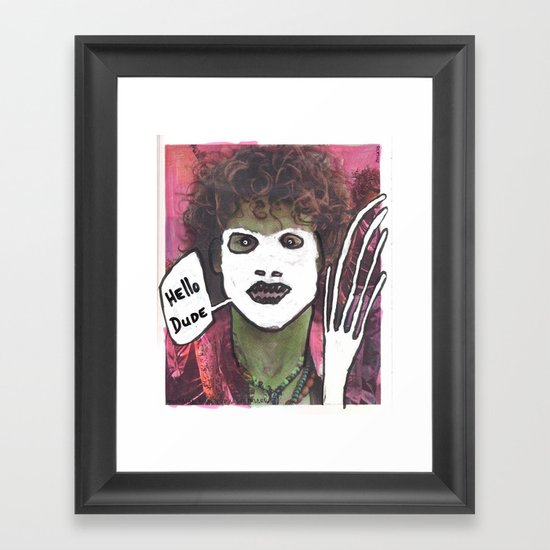 Hello dude Framed Art Print