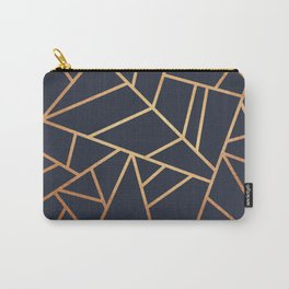 Copper and Midnight Navy Carry-All Pouch