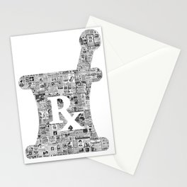 Pharmacy, pharmacy sign, medical, medicine, doctor gift: PANACEA Stationery Cards