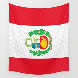 Peruvian Graphic Flag | Bandera Peru Wall Tapestry