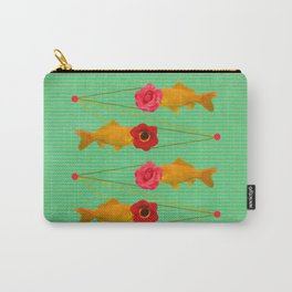fishes and flowers Carry-All Pouch