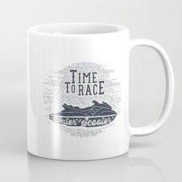 Time To Race. Water Scooter Coffee Mug