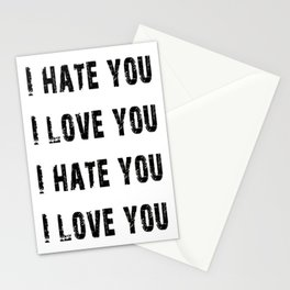 Love, Hate Stationery Cards