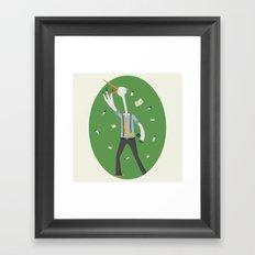 Stork Broker! Framed Art Print