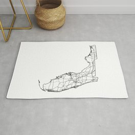 Florida White Map Rug