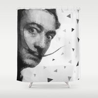 dali Shower Curtains featuring Dali triangles by Veronika