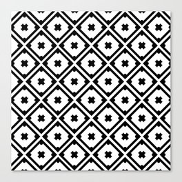 Graphic_Tile Black&White Canvas Print