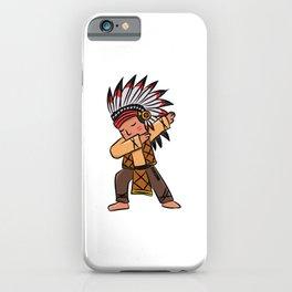 Children Indian chief dabbing dance gift iPhone Case