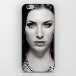 Portrait of a woman iPhone Skin