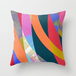 Boring but Pleasant Office Abstract Modern Art Throw Pillow