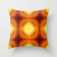 70s Throw Pillows featuring Flashy 70s,effect,red by MehrFarbeimLeben