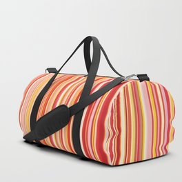 Old Skool Stripes - Red Pumpkin Duffle Bag