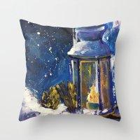 lantern Throw Pillows featuring Lantern by TamTamArt