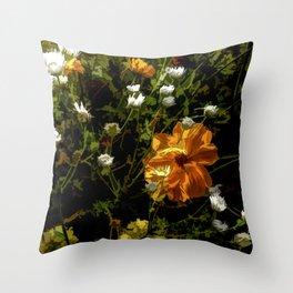 Bashful Floral Throw Pillow