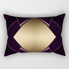 Rich Gold and Purple Accent Diamond Pattern Rectangular Pillow